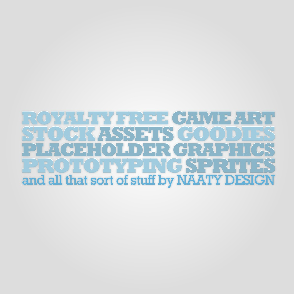 royalty free, game art, stock, assets, goodies, placeholder graphics, prototyping, sprites and all sort of stuff by Naaty Design