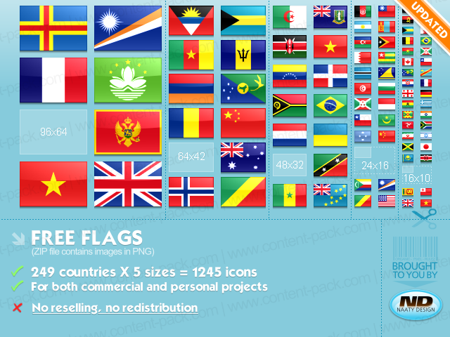1230 Free Flags Icons