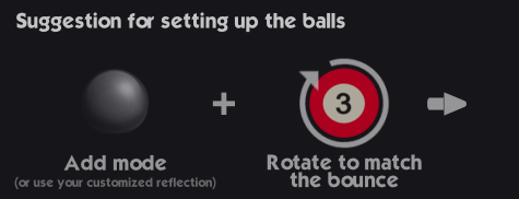 Suggestion for setting up the balls