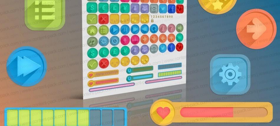 Game Interface volume 5 – flat long shadow