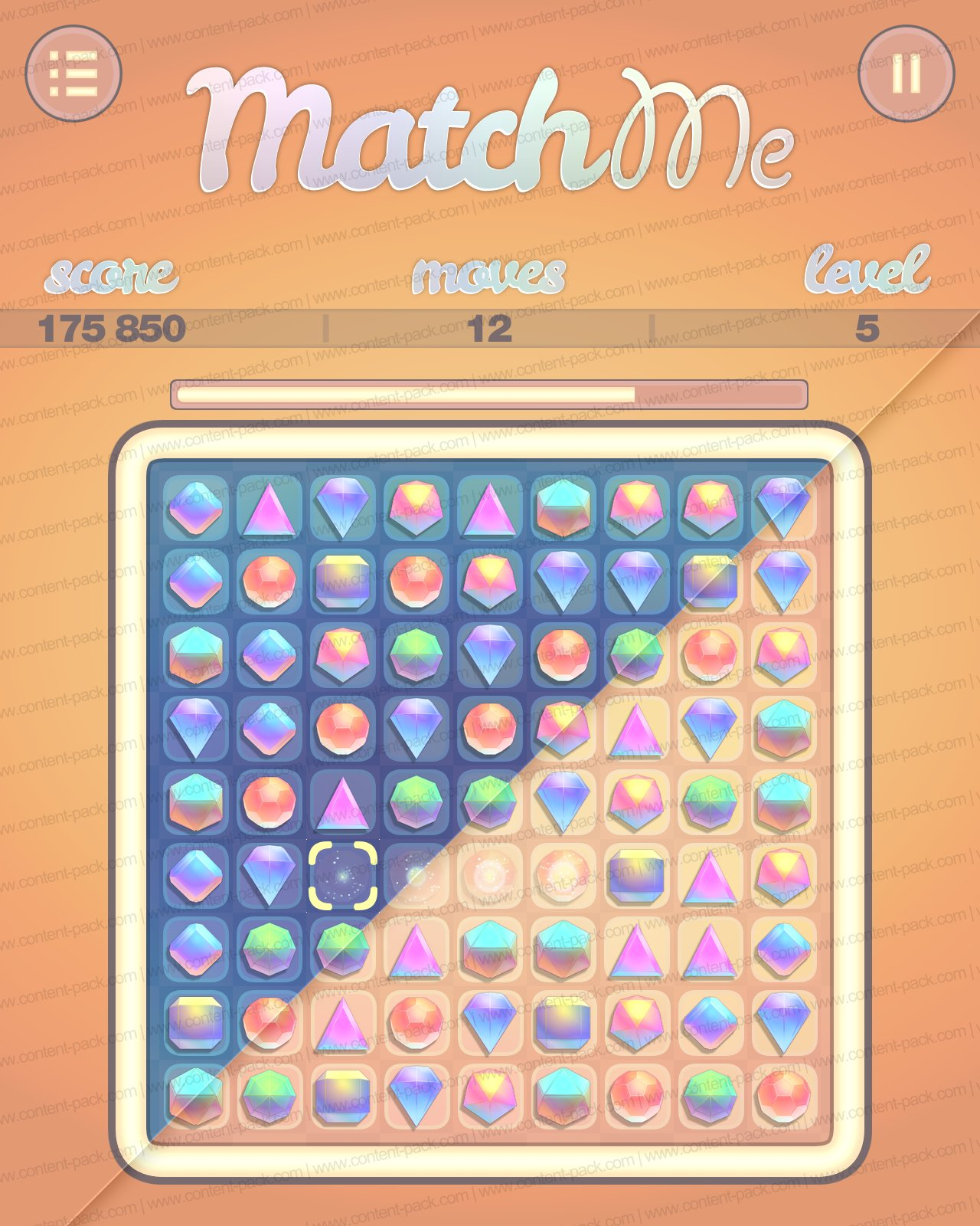 match-three puzzle game
