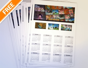 Free Calendar 2013 To Promote Your Games